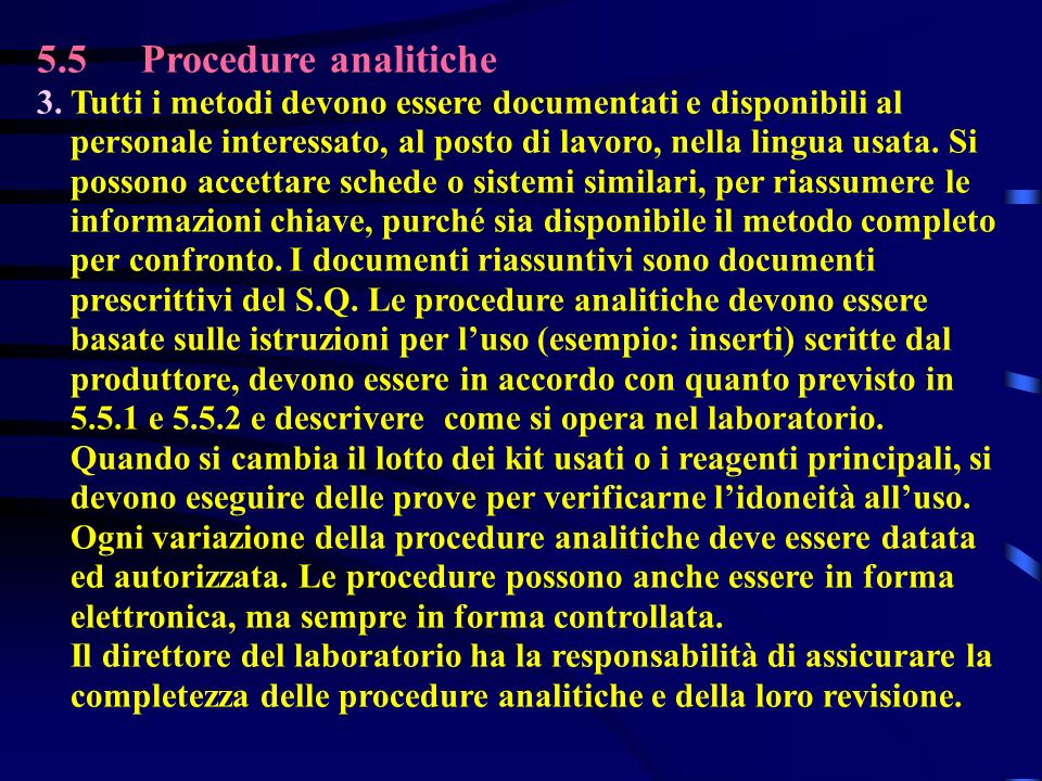 5.5Procedure analitiche 3.