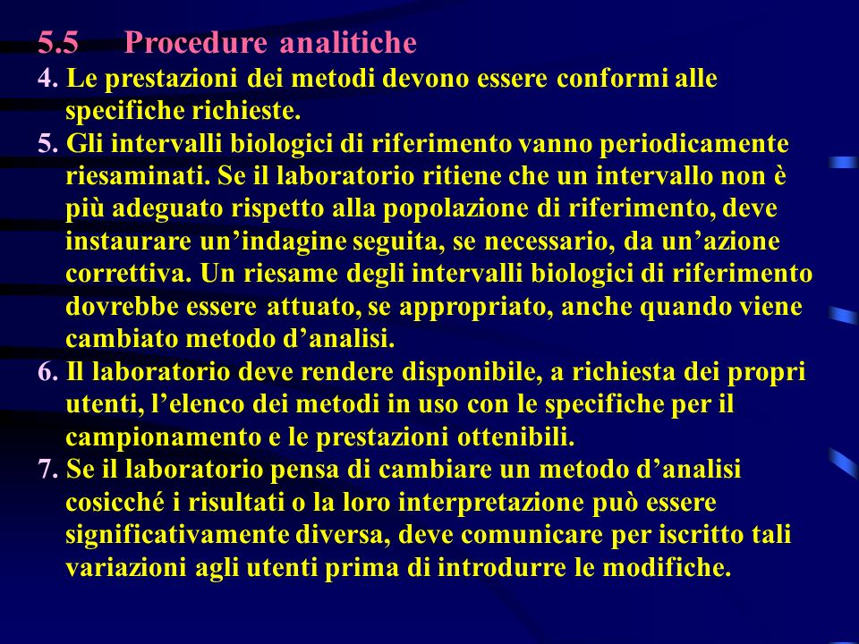 5.5Procedure analitiche 4.