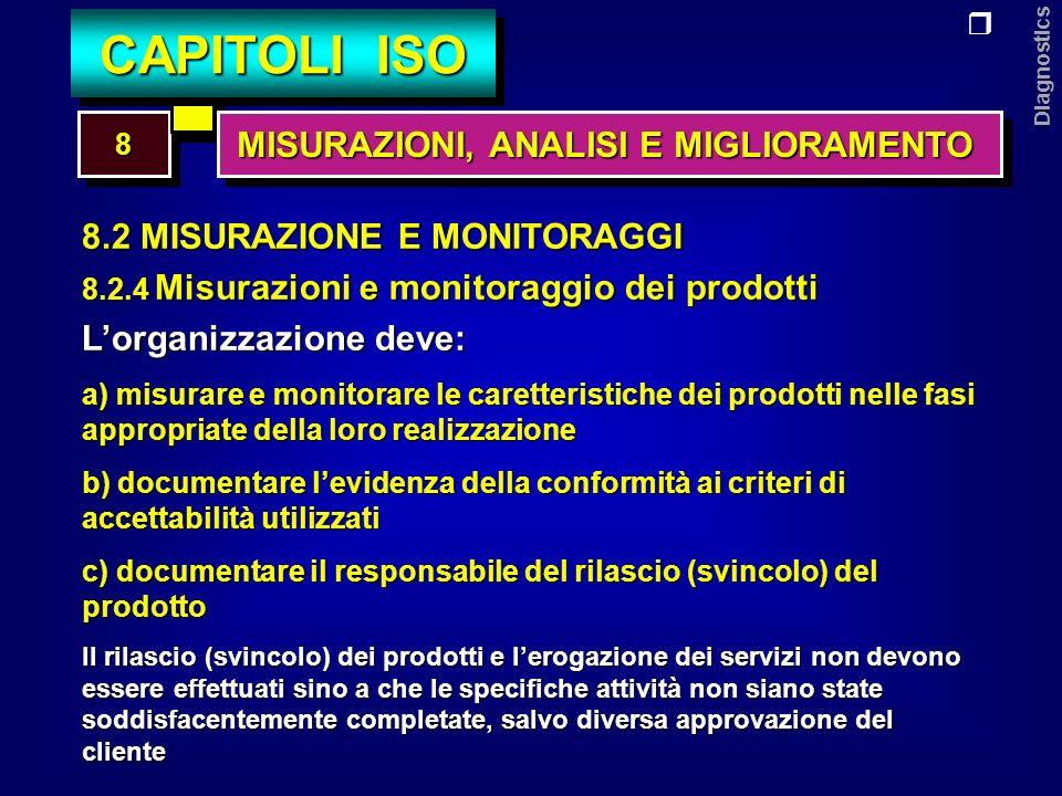 Diagnostics 8.3 Gestione delle non conformità Lorganizzazione deve: a) predisporre una procedura per la gestione delle N.C.