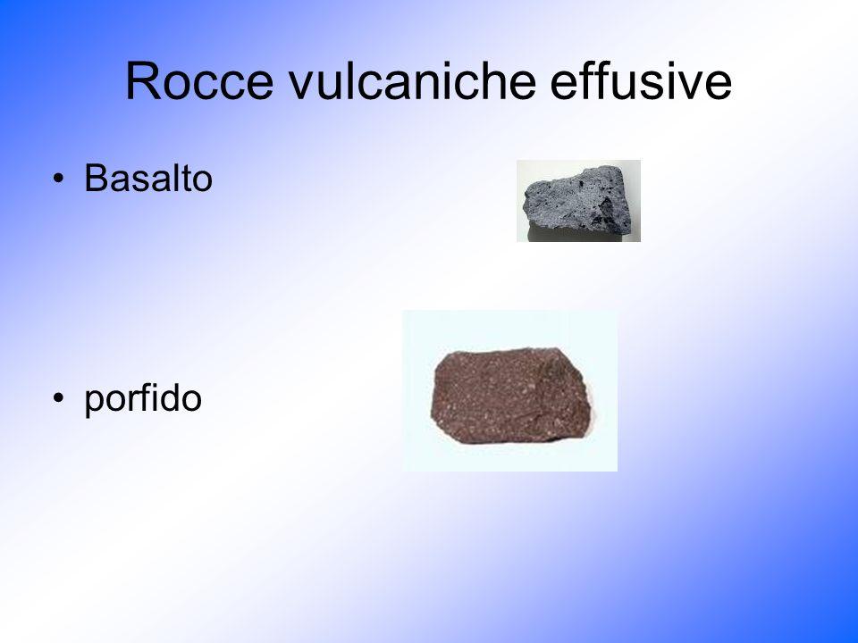 Rocce vulcaniche effusive Basalto porfido
