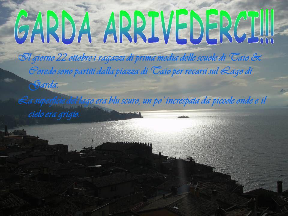 Il giorno 22 ottobre i ragazzi di prima media delle scuole di Taio & Coredo sono partiti dalla piazza di Taio per recarsi sul Lago di Garda. La superf