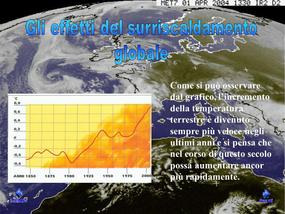 Come si può osservare dal grafico, lincremento della temperatura terrestre è divenuto sempre più veloce negli ultimi anni e si pensa che nel corso di