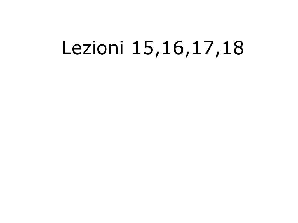 Lezioni 15,16,17,18