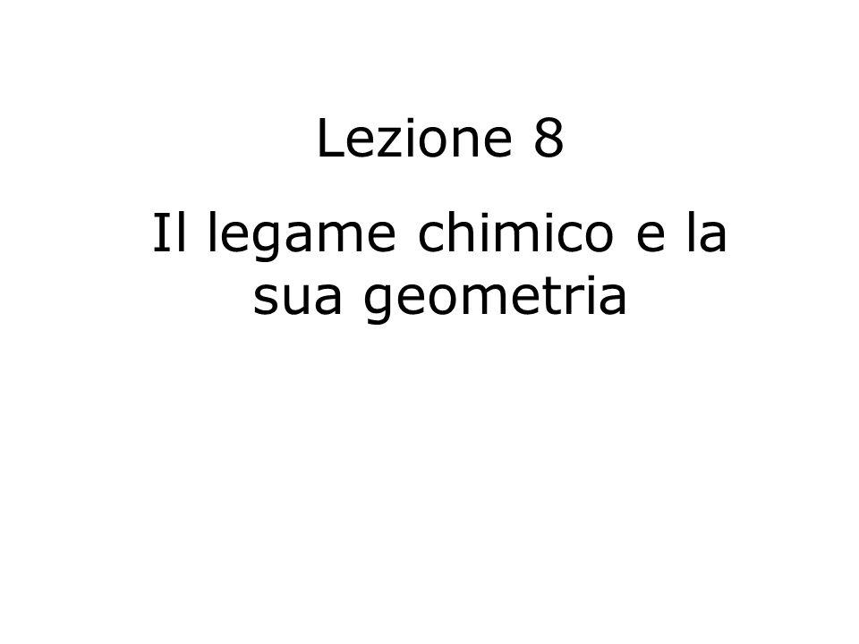 Lezione 8 Il legame chimico e la sua geometria