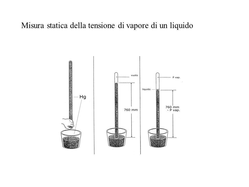 Misura statica della tensione di vapore di un liquido