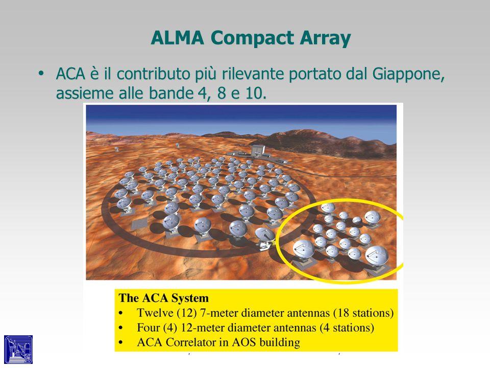 Leonardo Testi, INAF - Osservatorio Astrofisico di Arcetri, ALMA ALMA Compact Array ACA è il contributo più rilevante portato dal Giappone, assieme al