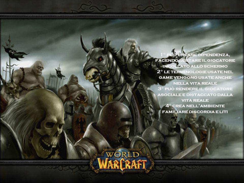 1° può creare dipendenza, facendo restare il giocatore incollato allo schermo 2° le terminologie usate nel game vengono usate anche nella vita reale 3