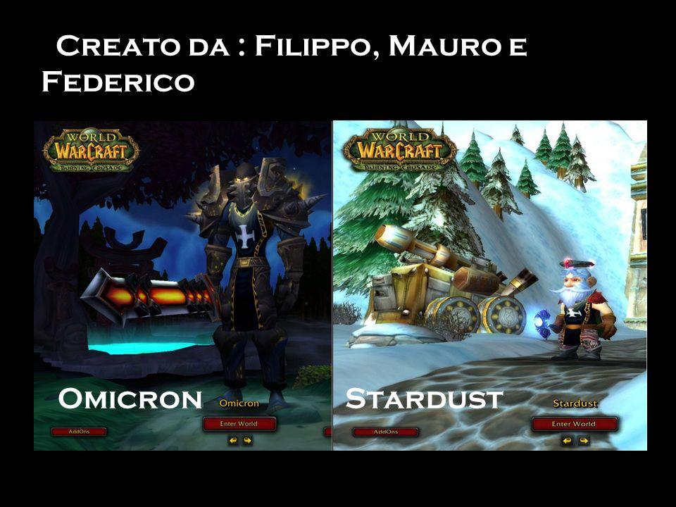 Creato da : Filippo, Mauro e Federico Omicron Stardust