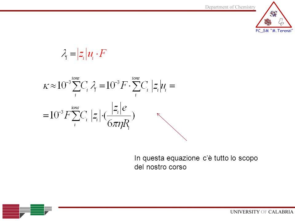 In questa equazione cè tutto lo scopo del nostro corso