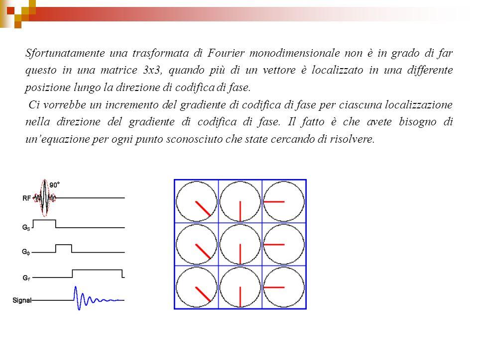 Sfortunatamente una trasformata di Fourier monodimensionale non è in grado di far questo in una matrice 3x3, quando più di un vettore è localizzato in