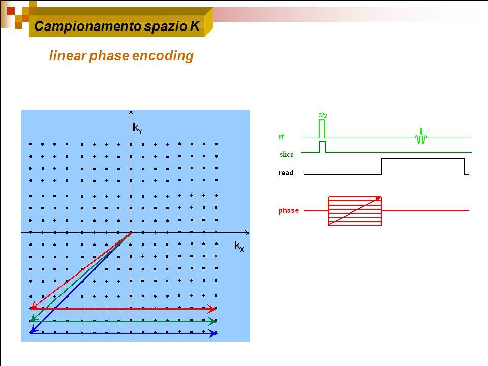 slice Campionamento spazio K linear phase encoding