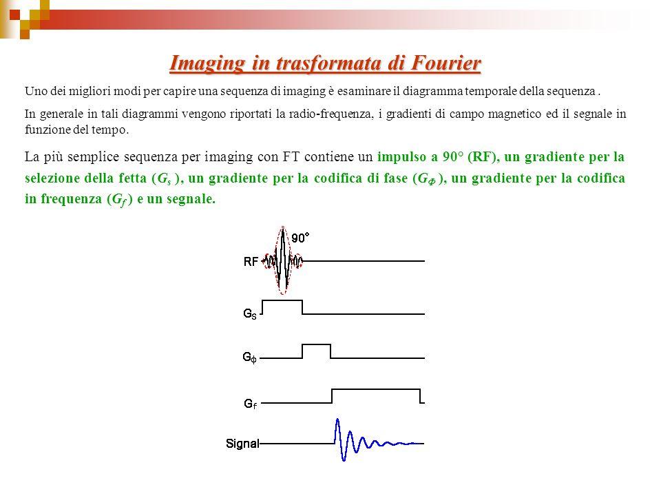 Imaging in trasformata di Fourier Uno dei migliori modi per capire una sequenza di imaging è esaminare il diagramma temporale della sequenza. In gener