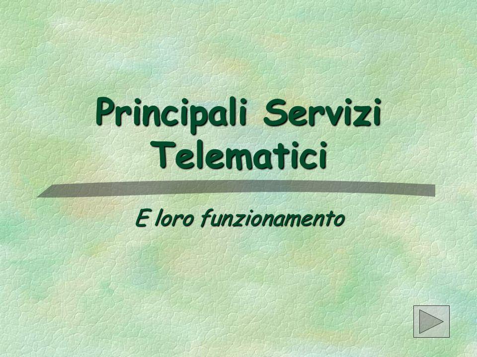 Principali Servizi Telematici E loro funzionamento