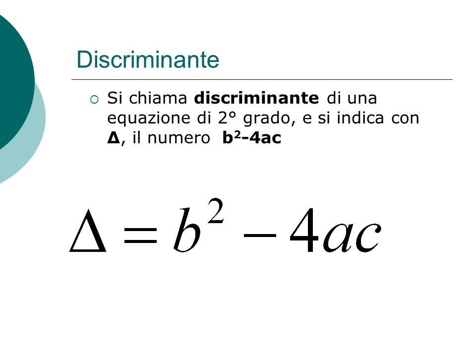 ? Questione fondamentale è determinare i valori dei parametri che soddisfano determinate condizioni