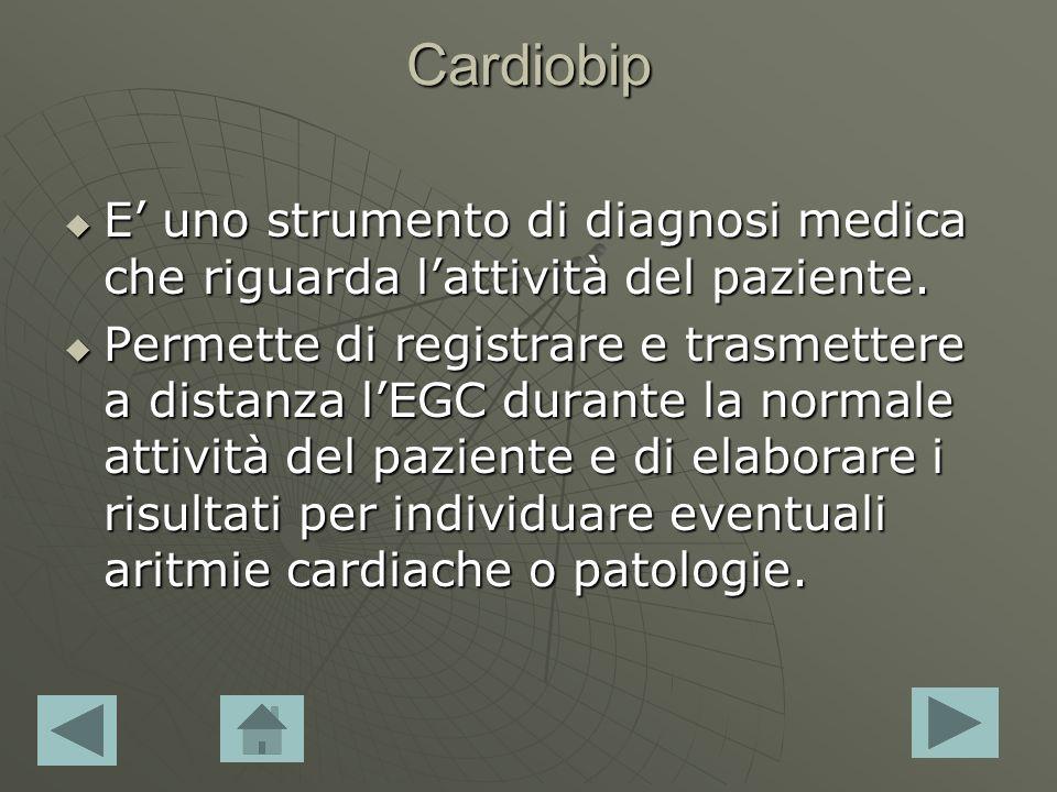 Cardiobip E uno strumento di diagnosi medica che riguarda lattività del paziente. E uno strumento di diagnosi medica che riguarda lattività del pazien