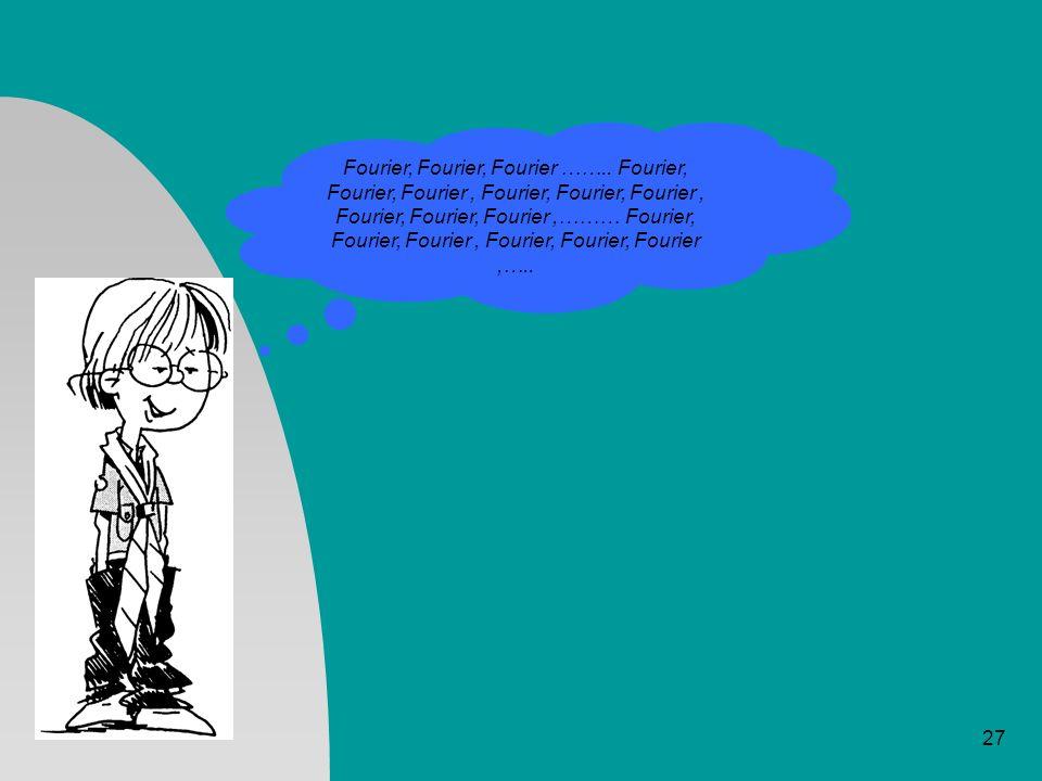 27 Fourier, Fourier, Fourier …….. Fourier, Fourier, Fourier, Fourier, Fourier, Fourier, Fourier, Fourier, Fourier,……… Fourier, Fourier, Fourier, Fouri