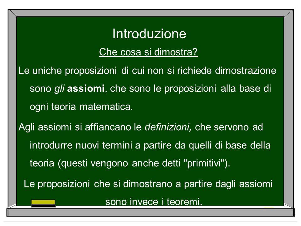 La dimostrazione per assurdo Si basa sullequivalenza logica: Un teorema ha la forma IPOTESI TESI (ovvero NON TESI NON IPOTESI).