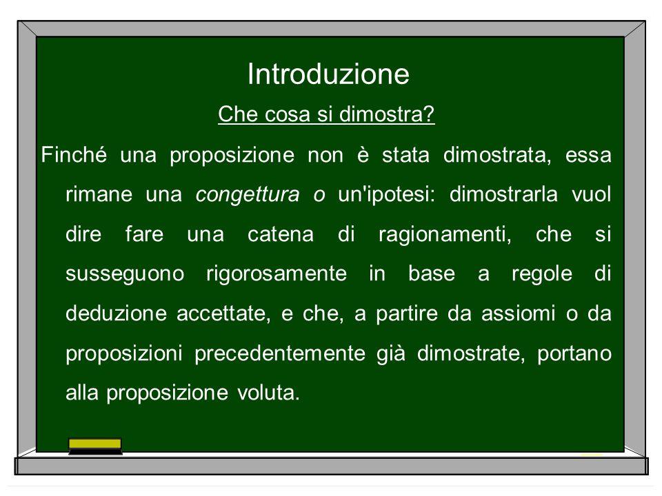 La dimostrazione per induzione La proposizione sarà pertanto vera per ogni numero naturale a patto che essa sia vera per il numero 1.