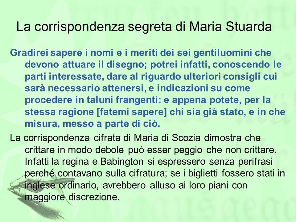 La corrispondenza segreta di Maria Stuarda Gradirei sapere i nomi e i meriti dei sei gentiluomini che devono attuare il disegno; potrei infatti, conos