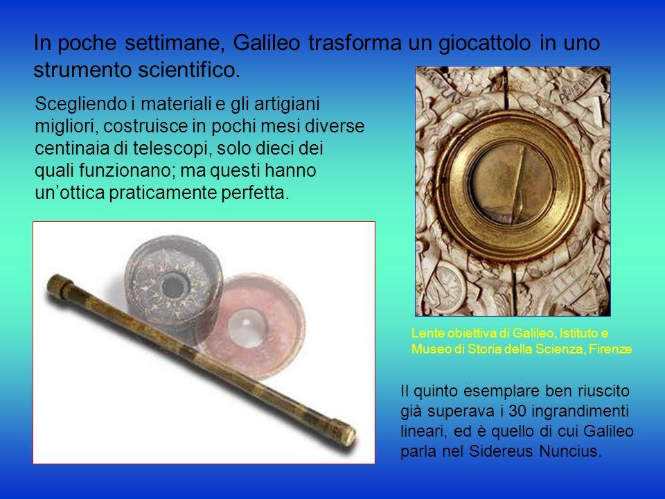 In poche settimane, Galileo trasforma un giocattolo in uno strumento scientifico. Scegliendo i materiali e gli artigiani migliori, costruisce in pochi