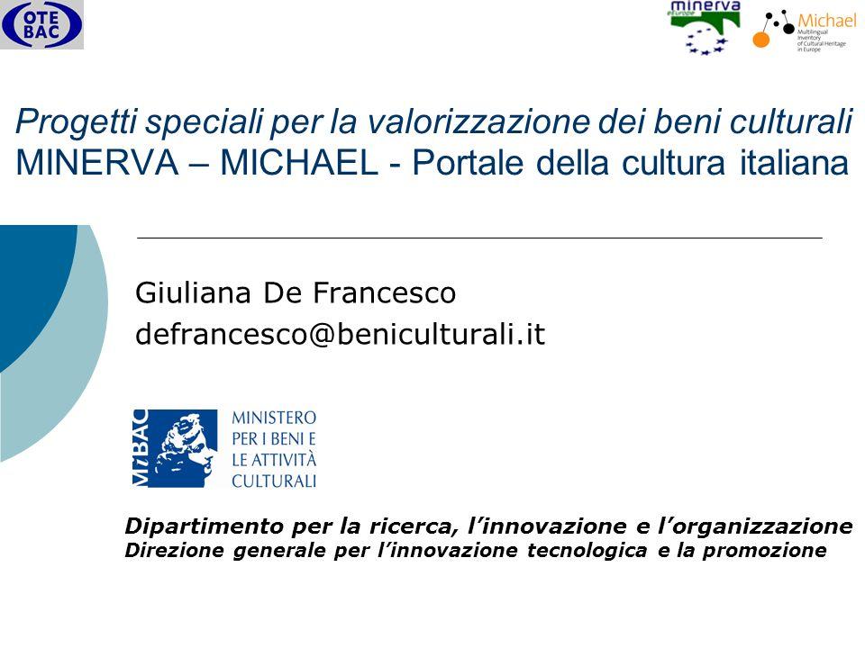Giuliana De Francesco Roma, 19 aprile 2007 Harvesting dei metadati