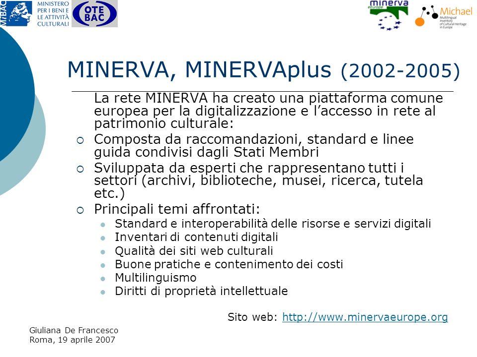 Giuliana De Francesco Roma, 19 aprile 2007 http://www.michael-culture.it