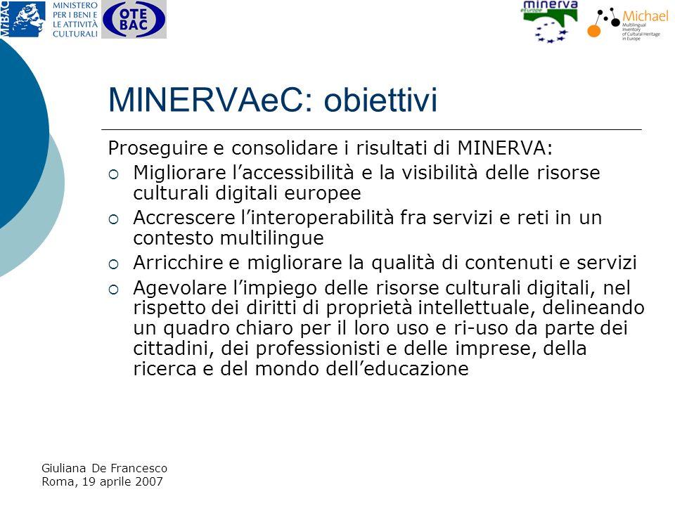 Giuliana De Francesco Roma, 19 aprile 2007 2.Menu tematici Funzioni di ricerca 1.