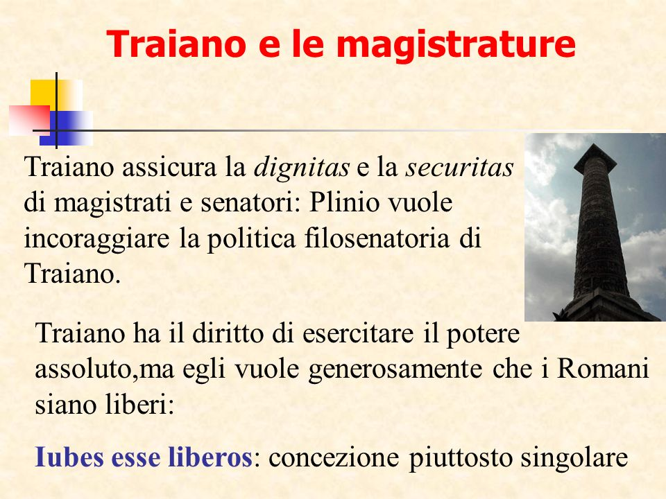 Differenza fra Seneca e Plinio Seneca (De Clementia) propone un programma di governo, sia pure astratto.