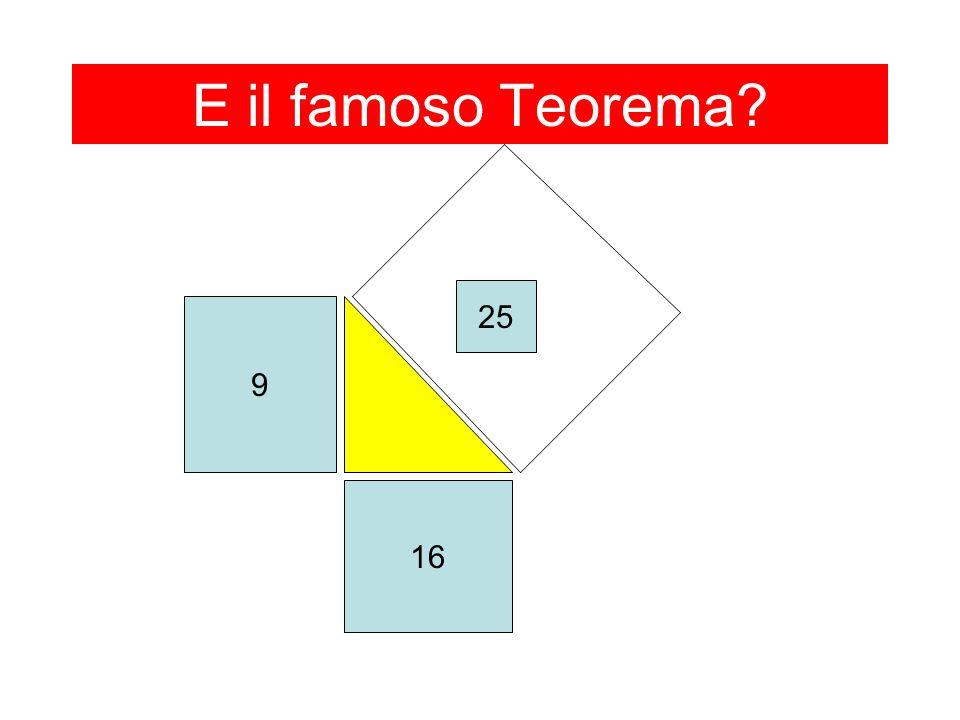 E il famoso Teorema? 9 16 25