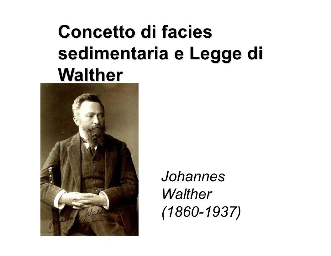 Concetto di facies sedimentaria e e Legge di Walther Johannes Walther (1860-1937)