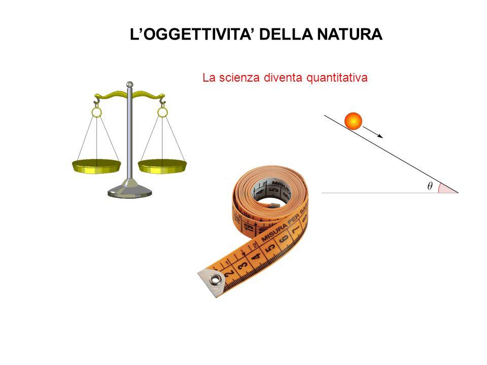 LOGGETTIVITA DELLA NATURA La scienza diventa quantitativa