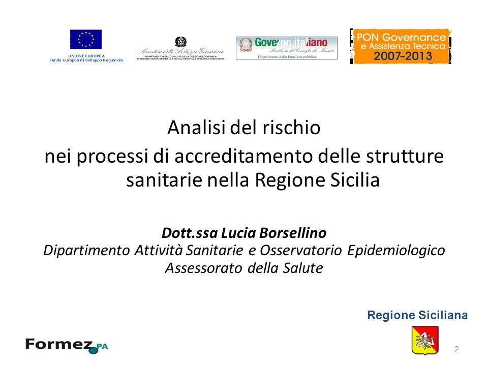 Progetto ETICA: Piano di lavoro Sicilia 2011 Linea 2.