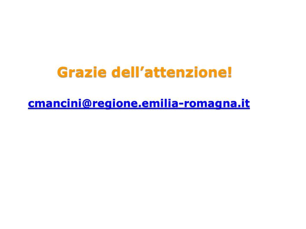 Grazie dellattenzione! cmancini@regione.emilia-romagna.it