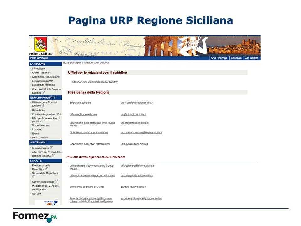 Pagina URP Regione Siciliana