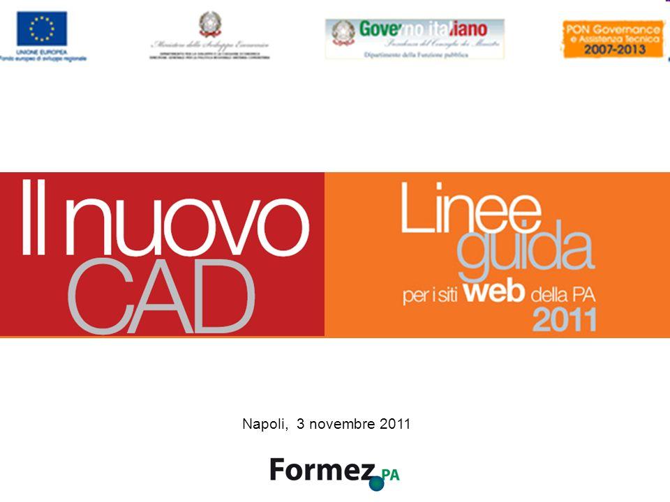 Il Nuovo CAD e i siti web della PA /100 Napoli, 3 novembre 2011