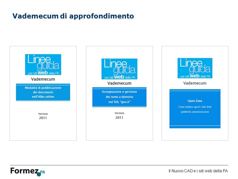 Il Nuovo CAD e i siti web della PA /100 Vademecum di approfondimento