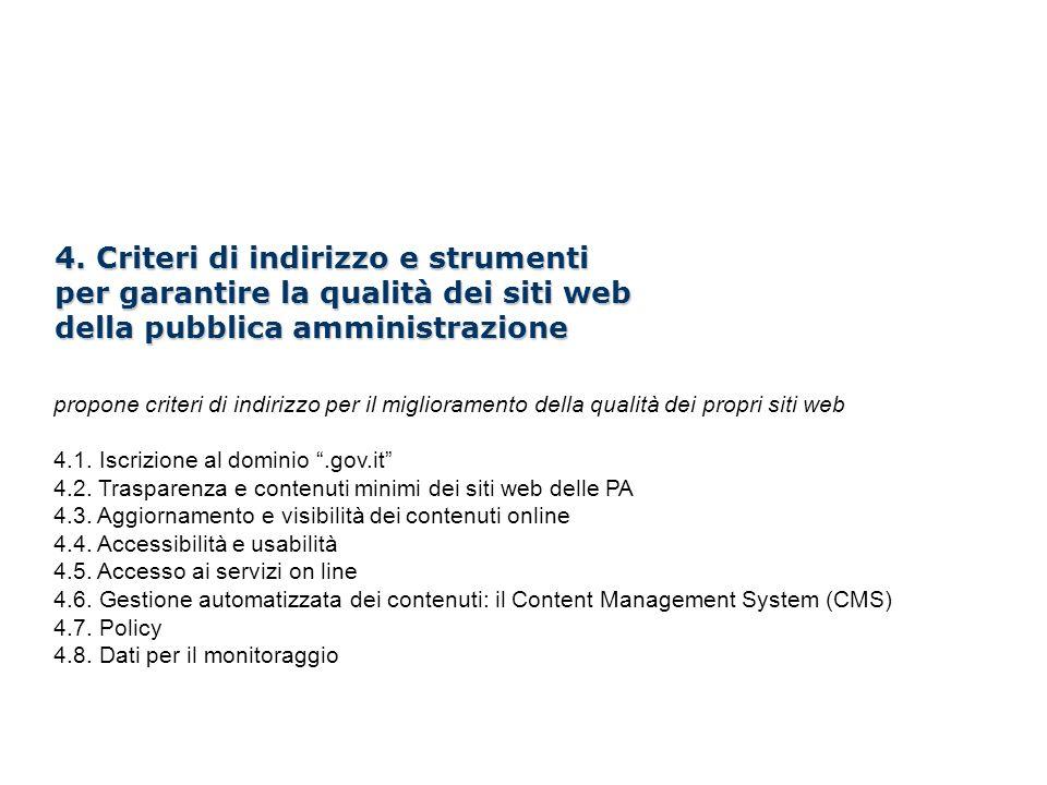 Il Nuovo CAD e i siti web della PA /100 4.