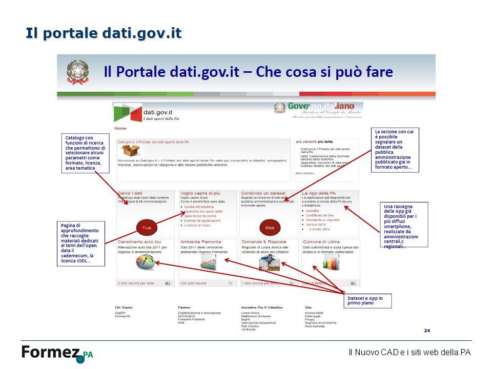 Il Nuovo CAD e i siti web della PA /100 Il portale dati.gov.it
