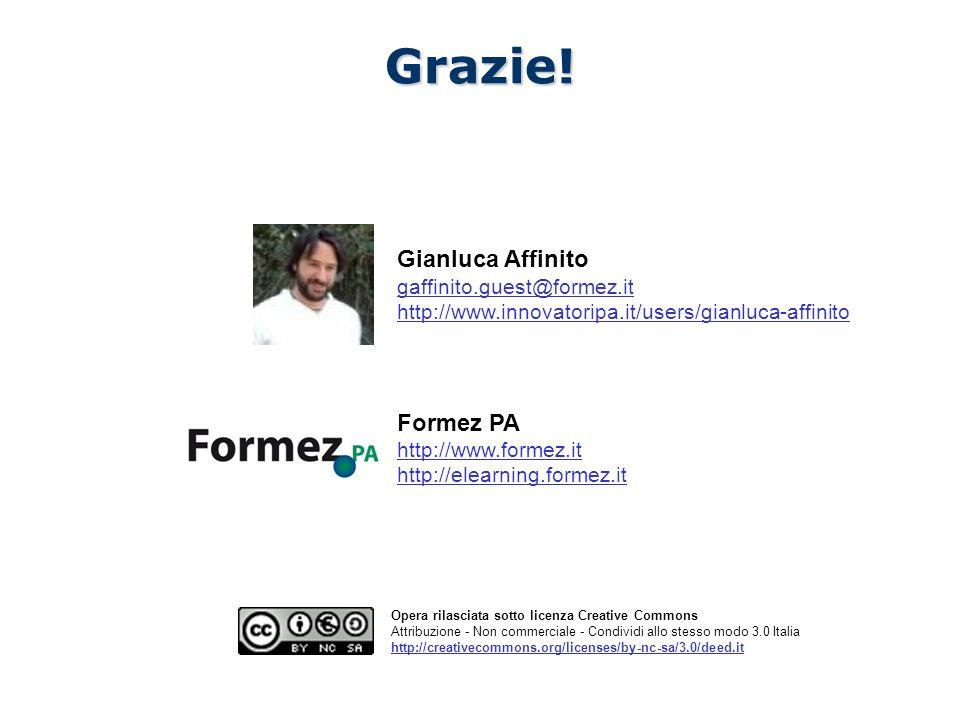 Il Nuovo CAD e i siti web della PA /100 Opera rilasciata sotto licenza Creative Commons Attribuzione - Non commerciale - Condividi allo stesso modo 3.0 Italia http://creativecommons.org/licenses/by-nc-sa/3.0/deed.itGrazie.