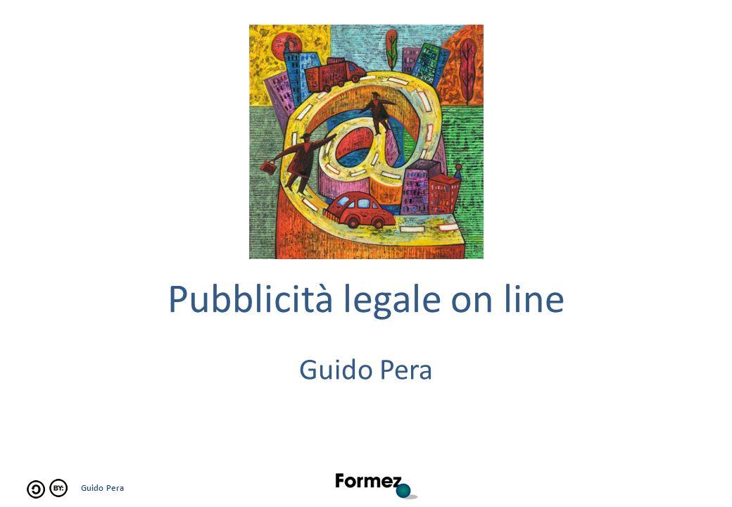 Guido Pera Pubblicità legale on line Guido Pera