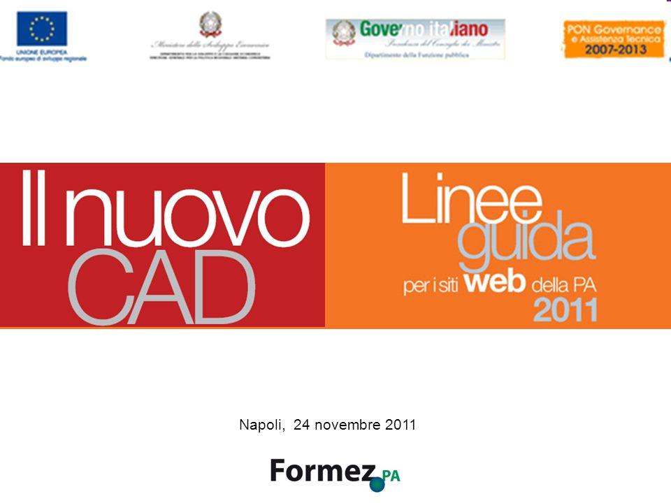 Il Nuovo CAD e i siti web della PA /100 Napoli, 24 novembre 2011