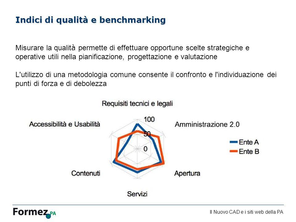 Il Nuovo CAD e i siti web della PA /100 Misurare la qualit à permette di effettuare opportune scelte strategiche e operative utili nella pianificazion