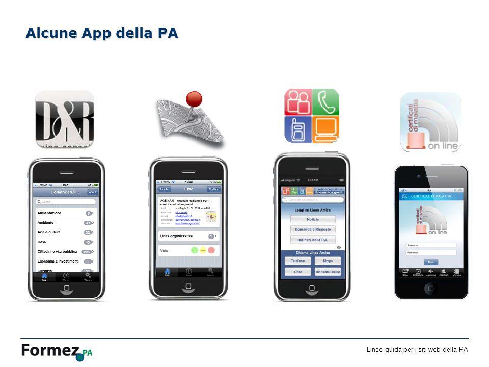 Linee guida per i siti web della PA /100 Alcune App della PA
