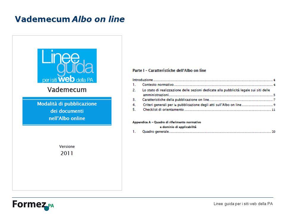Linee guida per i siti web della PA /100 Vademecum Albo on line
