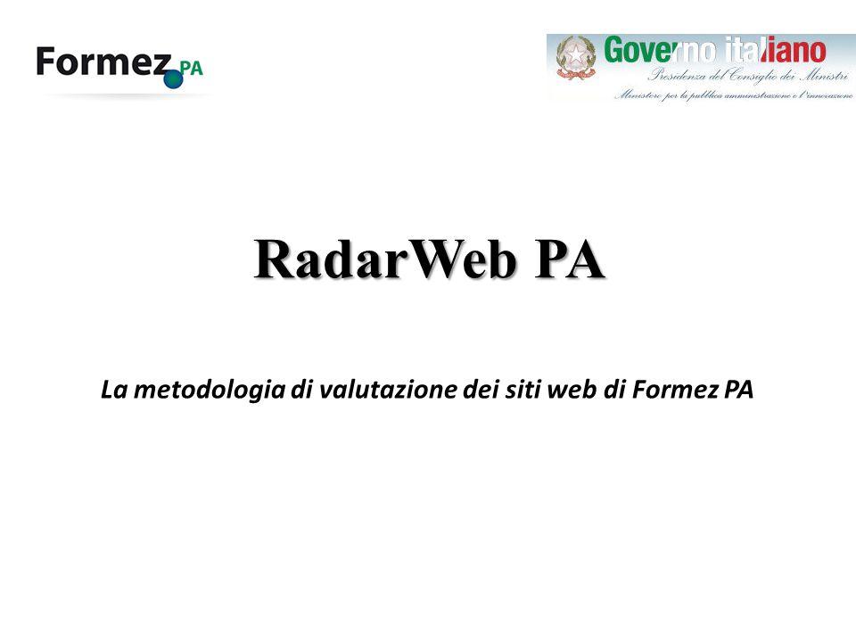 RadarWeb PA La metodologia di valutazione dei siti web di Formez PA