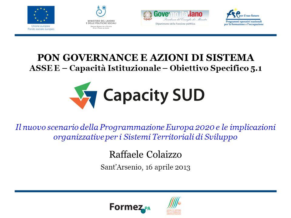 22 Integrazione e territorio nei Fondi Commissione Europea (2012), Investimenti Territoriali Integrati, Scheda Informativa scaricabile da: http://ec.europa.eu/regional_policy/what/future/proposals_2014_2020_en.cfm