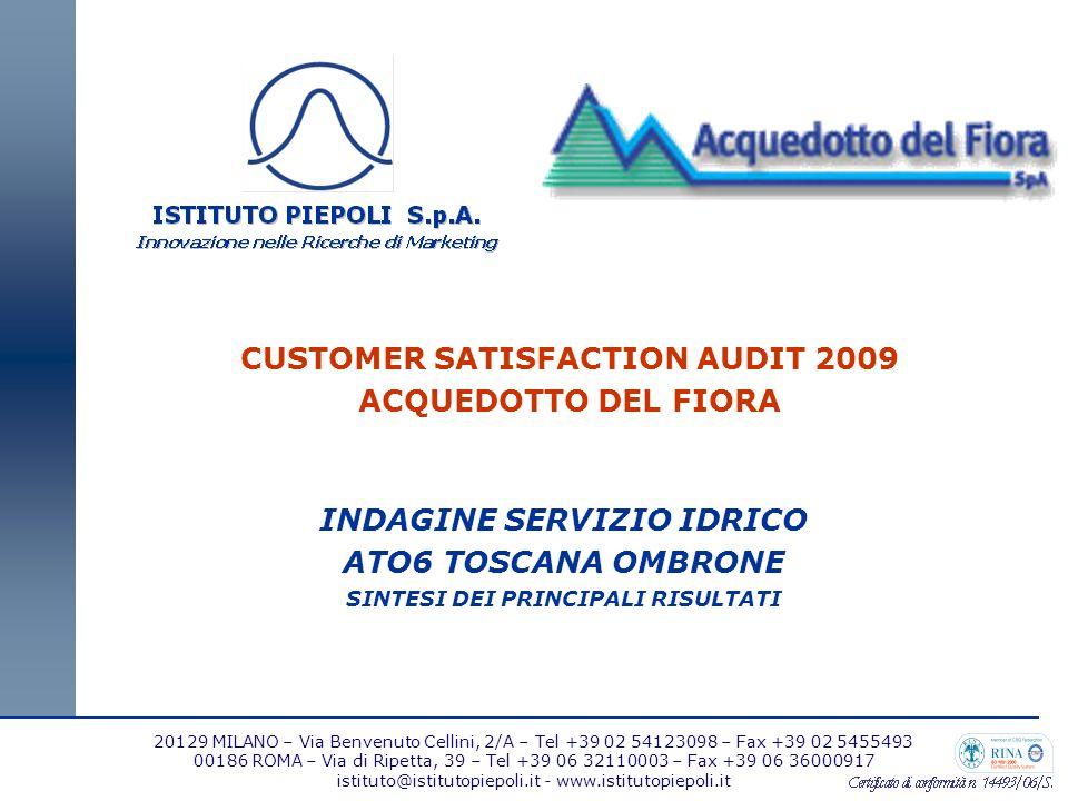 2 IL CAMPIONE E LA METODOLOGIA DELLINDAGINE Lindagine ha previsto la somministrazione, nel mese di ottobre 2009, di 1.685 interviste telefoniche con sistema CATI presso un campione rappresentativo dei clienti domestici.