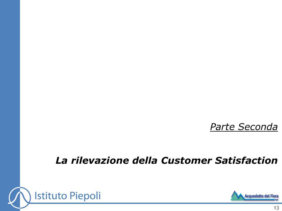 Parte Seconda La rilevazione della Customer Satisfaction 13