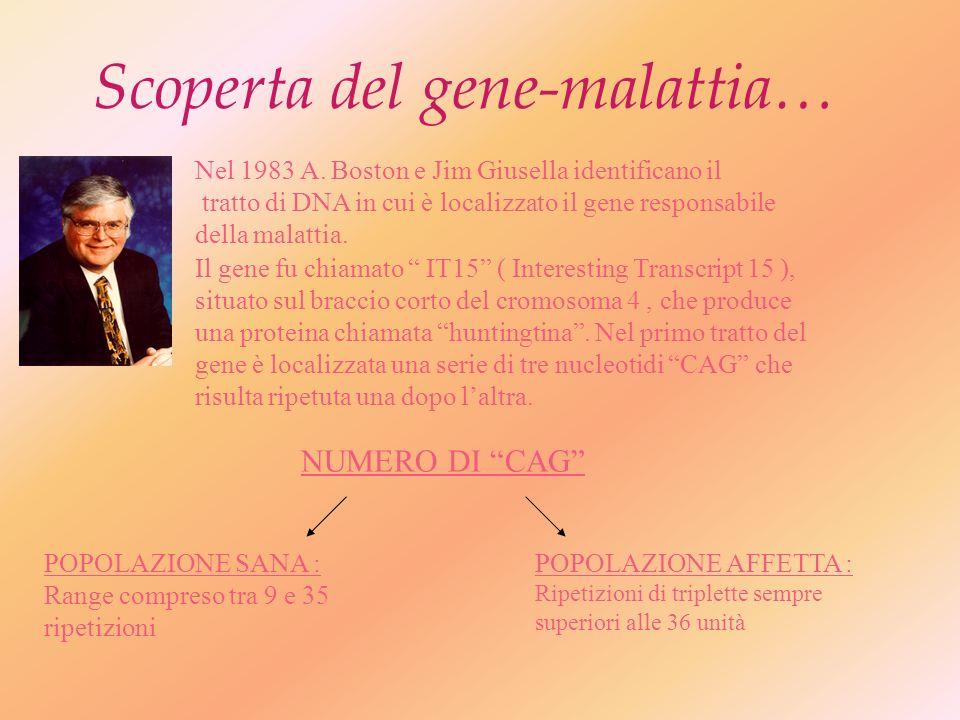 Scoperta del gene-malattia… Nel 1983 A.