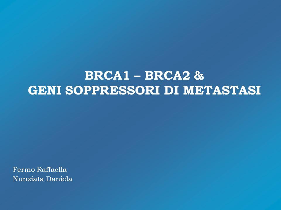 BRCA1 – BRCA2 & GENI SOPPRESSORI DI METASTASI Fermo Raffaella Nunziata Daniela